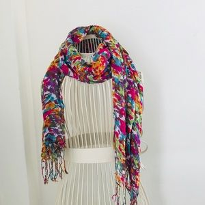 Nordstrom Colorful Floral Scarf